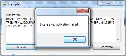 Failed activation
